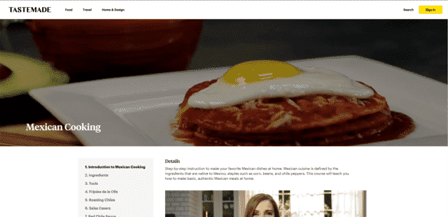 TasteMade Learn Mexican Cooking Lessons Online