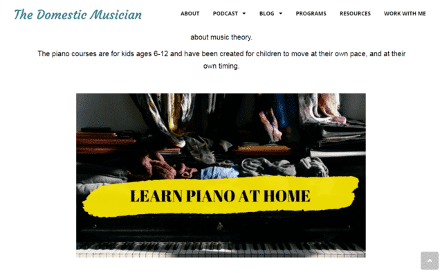 Thedomesticmusician Learn Kids Piano Lessons Online