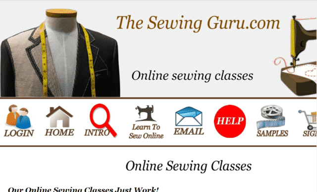 TheSewingGuru Learn Sewing Lessons Online