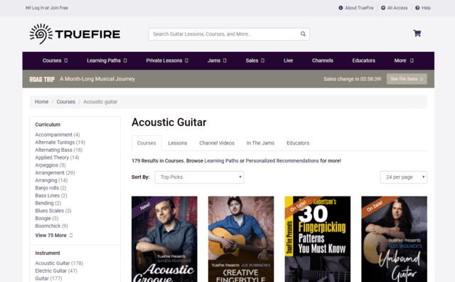 TrueFire Learn Acoustic Guitar Lessons Online