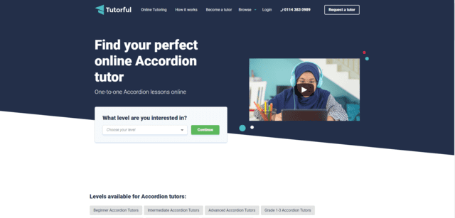 tutorful learn accordion lessons online