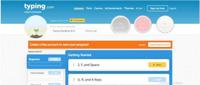 Typing Learn Typing Lessons Online