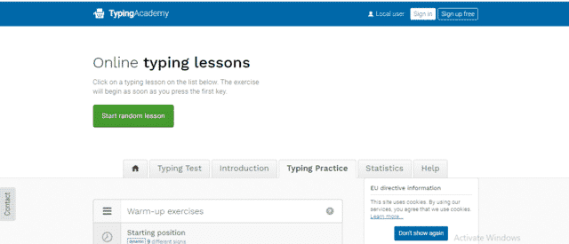 TypingAcademy Learn Typing Lessons Online