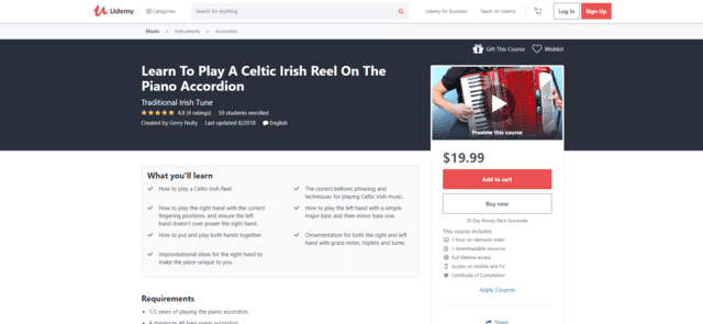 udemy learn accordion lessons online