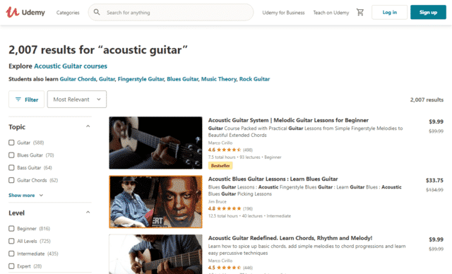 Udemy Learn Acoustic Guitar Lessons Online