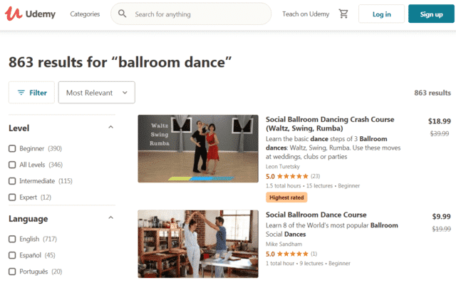 Udemy Learn Ballroom Dance Lessons Online