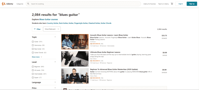 Udemy Learn Blues Guitar Lessons Online