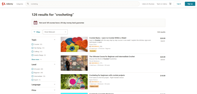 Udemy Learn Crocheting Lessons Online
