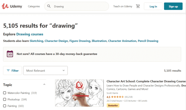 Udemy Learn Drawing Lessons Online