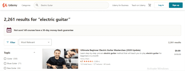 Udemy Learn Electric Guitar Lessons Online