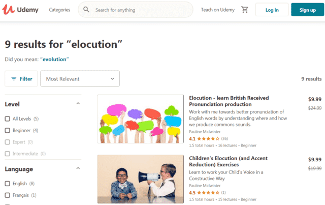 Udemy Learn Elocution Lessons Online
