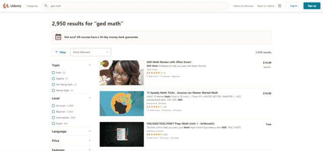 Udemy Learn GED Math Lessons Online