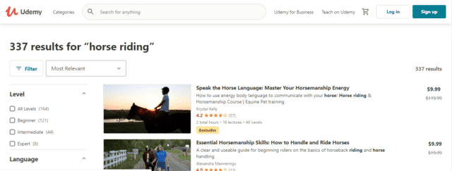 Udemy Learn Horse Riding Lessons Online