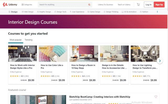 Udemy Learn Interior Design Lessons Online