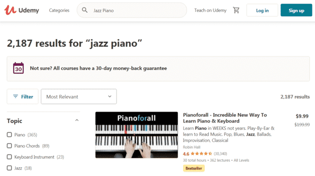 Udemy Learn Jazz Piano Lessons Online