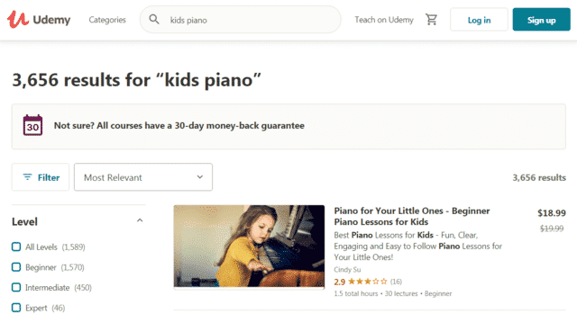 Udemy Learn Kids Piano Lessons Online