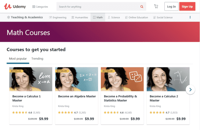 Udemy Learn Maths Lessons Online