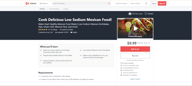 Udemy Learn Mexican Cooking Lessons Online