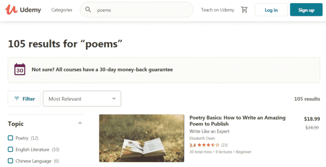 Udemy Learn Poems Lessons Online