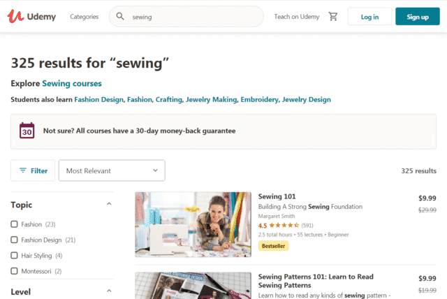 Udemy Learn Sewing Lessons Online