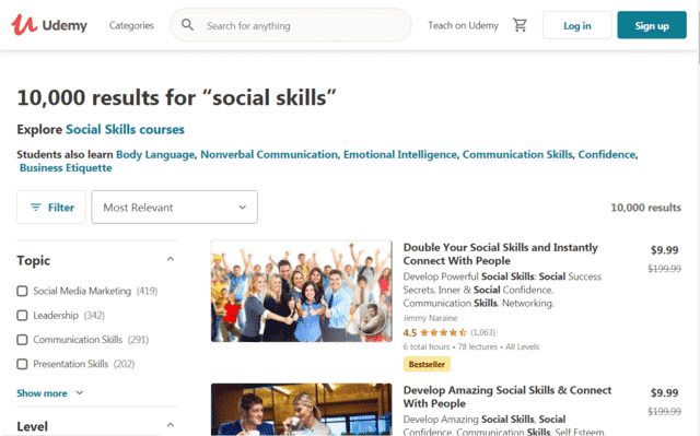 Udemy Learn Social Skills Lessons Online