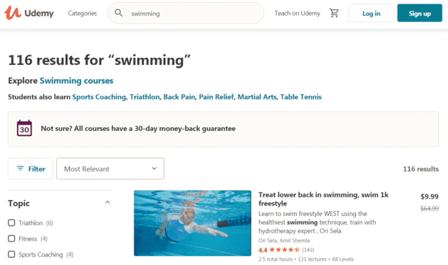 Udemy Learn Swimming Lessons Online
