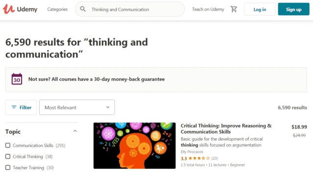 Udemy Learn Thinking And Communication Lessons Online