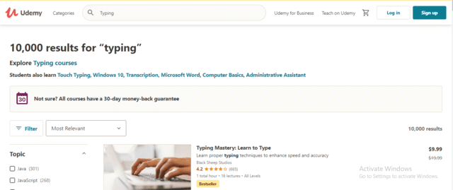 Udemy Learn Typing Lessons Online