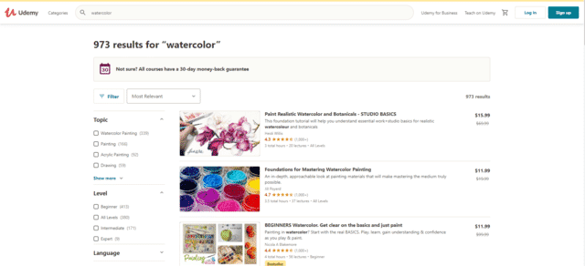 Udemy Learn Watercolour Painting Lessons Online