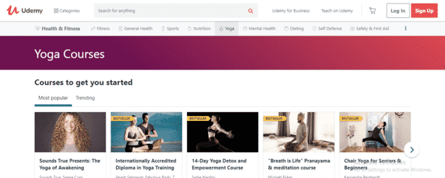 Udemy Learn Yoga Lessons Online