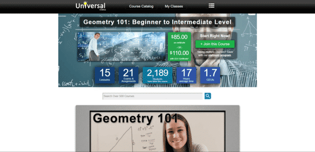 Universalclass Learn Geometry Lessons Online