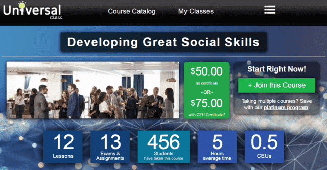 Universalclass Learn Social Skills Lessons Online