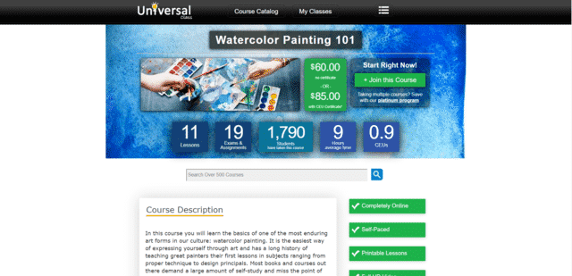 Universalclass Learn Watercolour Painting Lessons Online