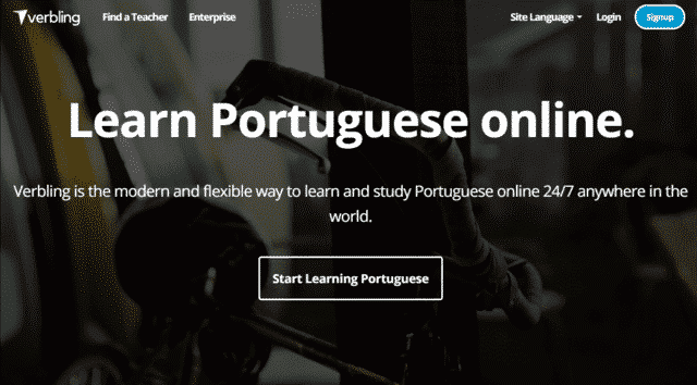Verbling Learn Portuguese Lessons Online