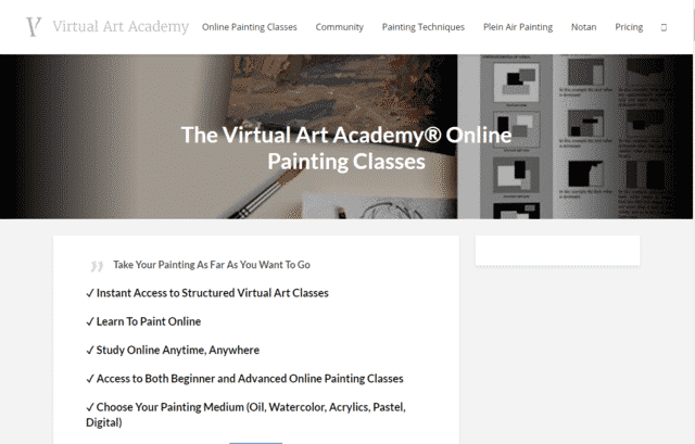 VirtualArtAcademy Learn Art Lessons Online