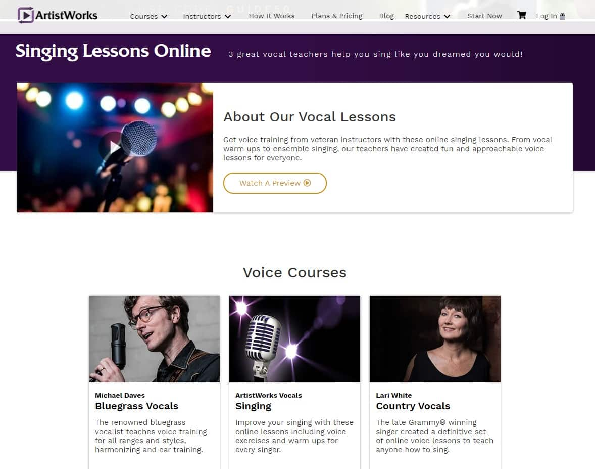 Artistworks Learn Voice Lessons Online