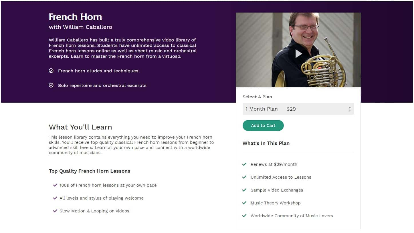 ArtistWorks French Horn Lessons for Intermediate Online