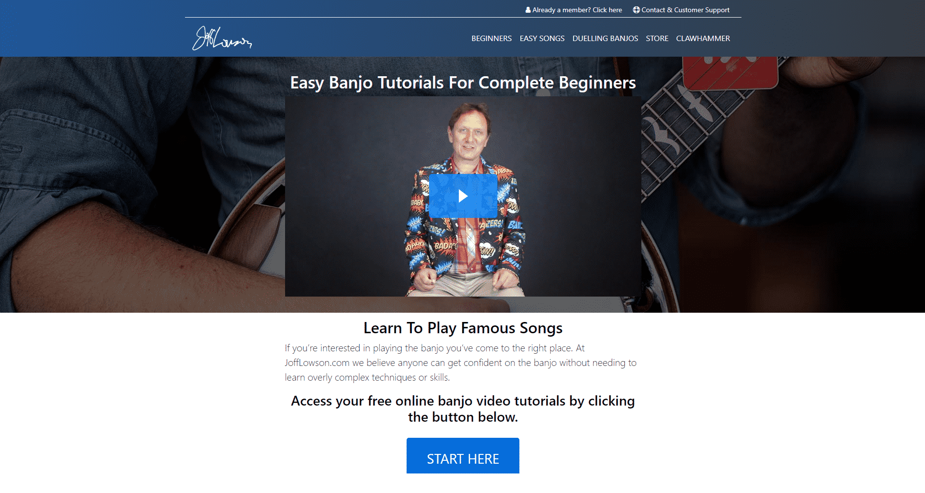 Joff Lowson Banjo Lessons for Intermediate Online