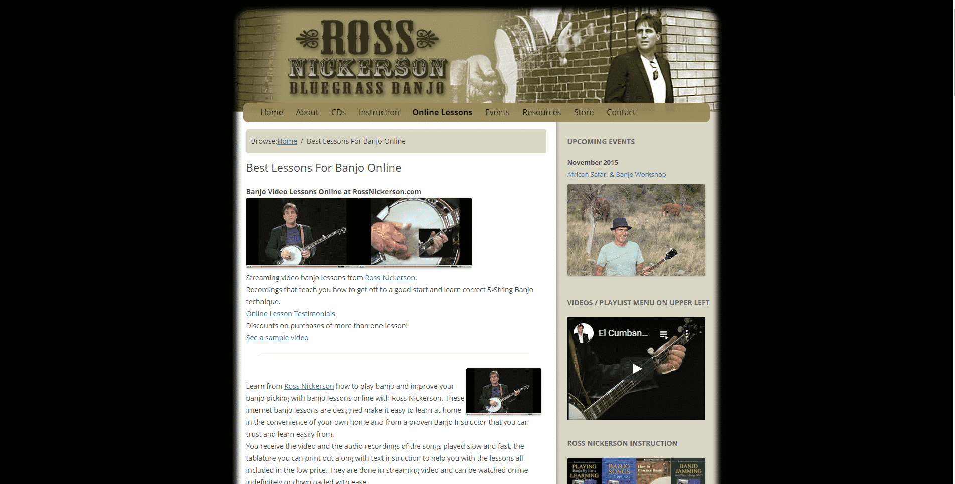 Ross Nickerson Banjo Lessons for Intermediate Online