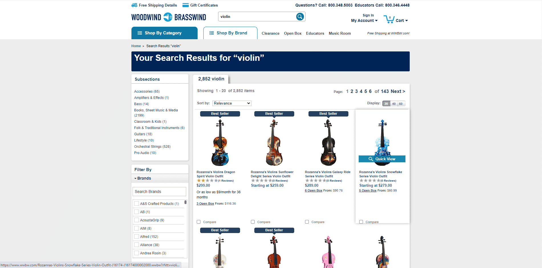 Woodwind Brasswind buy violin online