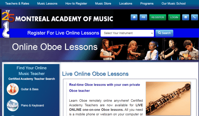 Academiedemontreal Learn Oboe Lessons Online