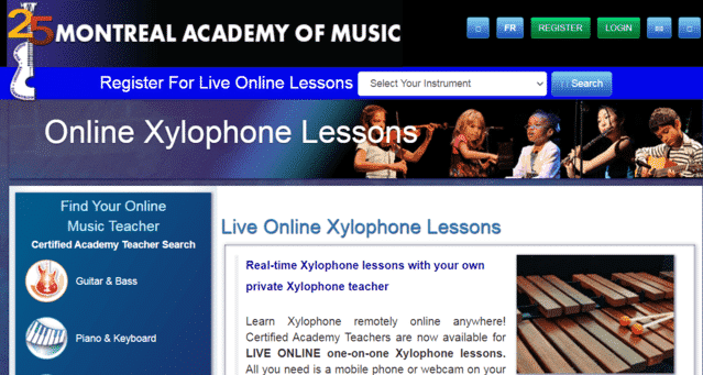 academiedemontreal learn xylophone lessons online