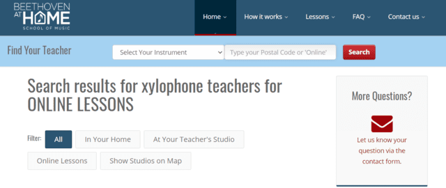 beethovenathome learn xylophone lessons online
