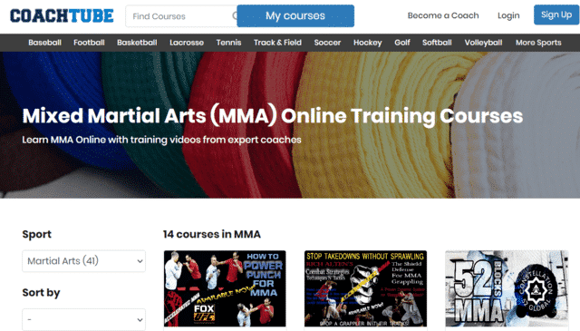coachtube learn mma lessons online