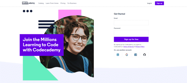 codeacademy learn coding lessons online