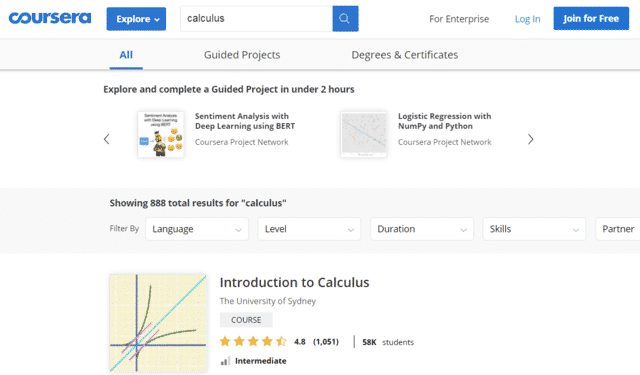 coursera learn calculus lessons online