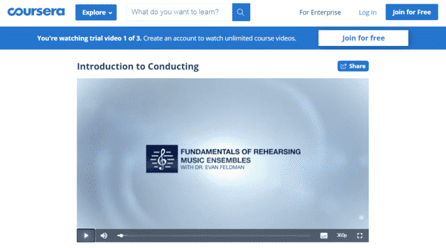 Coursera Learn Music Conducting Lessons Online