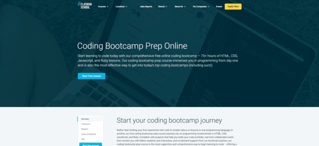 flatironschool learn coding lessons online
