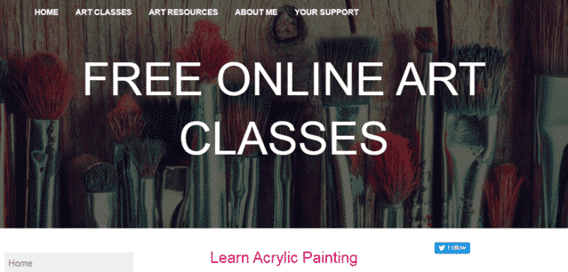 freeonlineartclasses learn acrylic painting lessons online