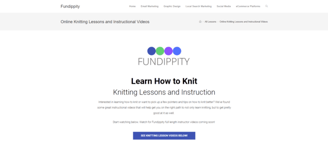 fundippity learn knitting lessons online
